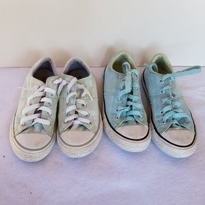 2 Pair of Girls Chuck Taylor & Madison Converse